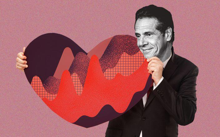 Gov. Andrew Cuomo (Getty, iStock/Illustration by Alexis Manrodt for The Real Deal)