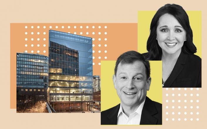 From left: 860 Washington Street, Meadow Partners Managing Partner Jeff Kaplan and Calpers CEO Marcie Frost (Photos via Meadow Partners; Calpers; CNY Group)
