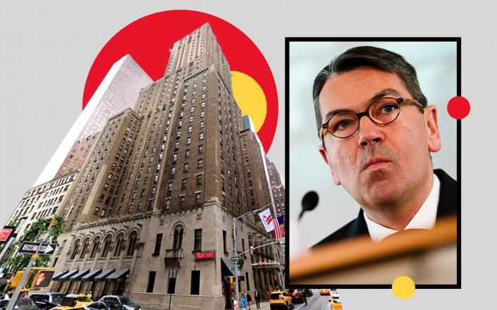 525 Lexington Avenue and Deka bank CEO Michael Rüdiger (Photos via Google Maps, Getty Images)