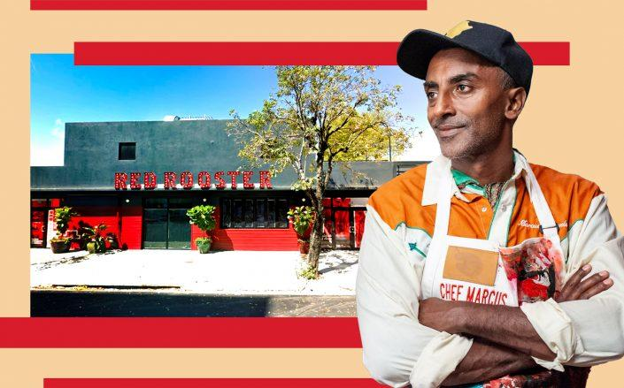 Marcus Samuelsson and his Red Rooster restaurant in Miami's Overtown (Getty, Google Maps)