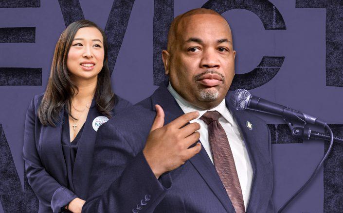 Manhattan Assembly member Yuh-line Niou with  Assembly Speaker Carl Heastie. (Getty, Niou For New York)