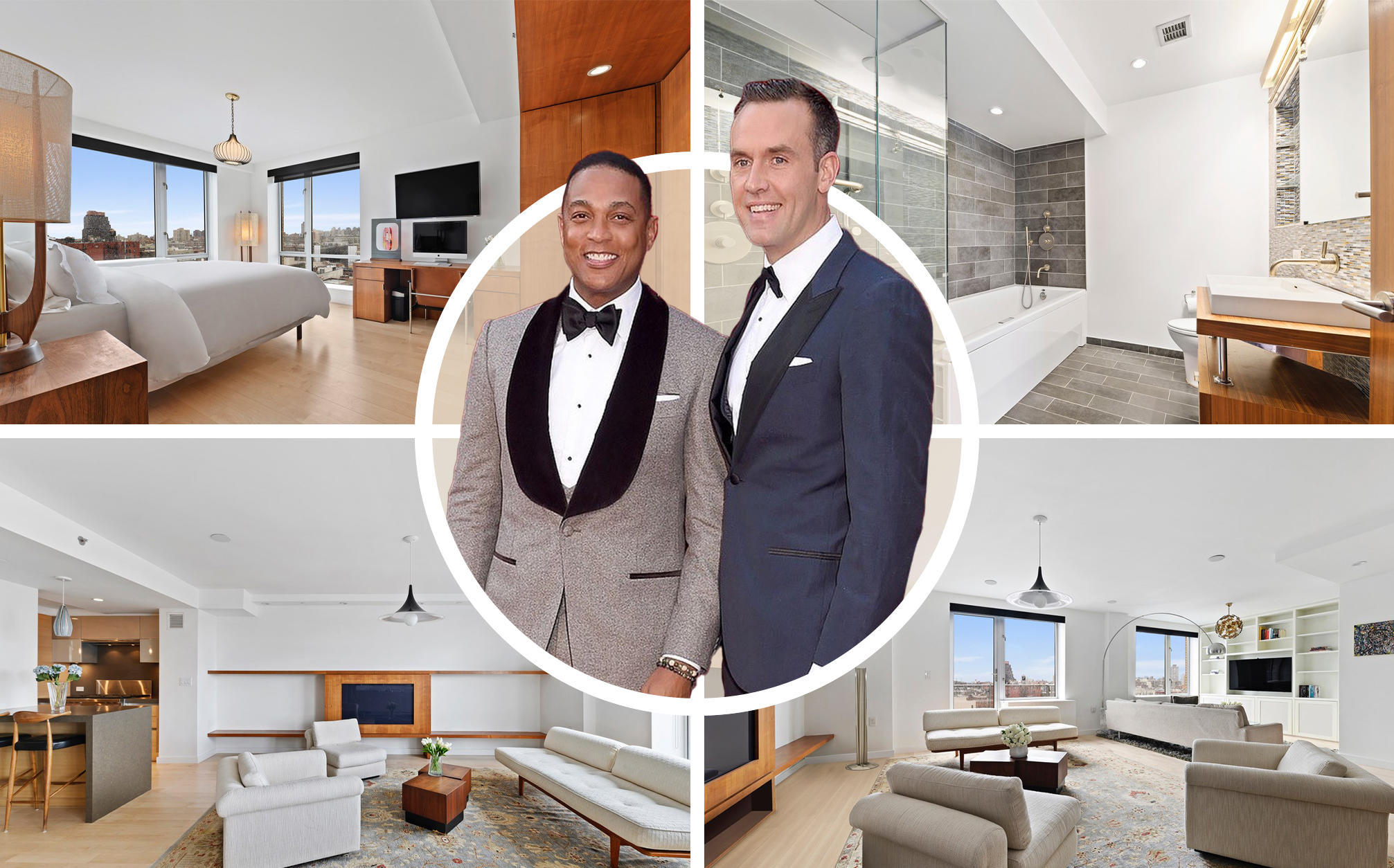 Don Lemon and Tim Malone with their apartment at 2280 Frederick Douglass Boulevard