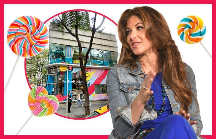 Dylan's Candy Bar at 1011-1029 Third Avenue and Dylan Lauren (Photos via Getty, iStock, Google Maps/Photo Illustration by Kevin Rebong for The Real Deal)