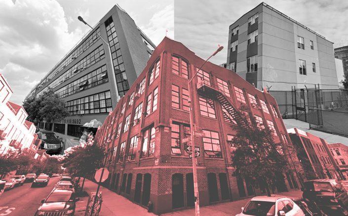 Clockwise from left: 248 McKibbin Street, 586 Hart Street and 345 Eldert Street (Google Maps)