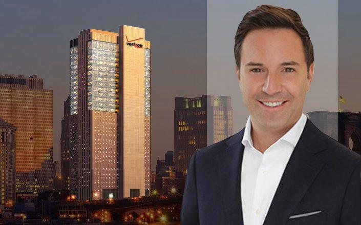 Rudder Property Group principal Michael Rudder with 375 Pearl Street. (Rudder, 375 Pearl)
