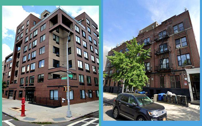 689 Marcy Avenue in Bedford-Stuyvesant and 242, 244, 246 and 248 Bainbridge Street in Stuyvesant Heights (Google Maps)