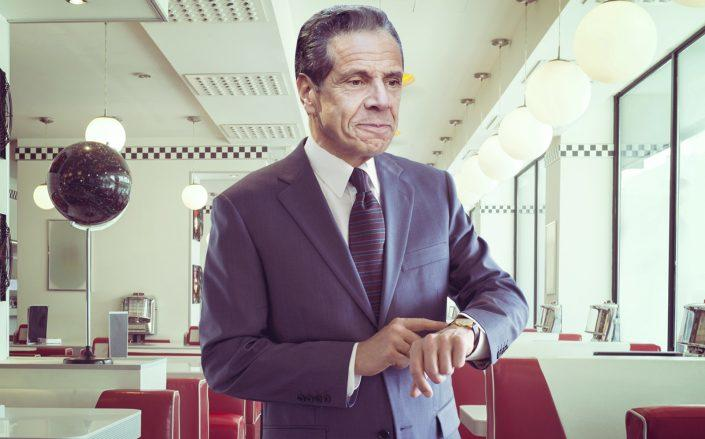 Gov. Andrew Cuomo announced today that bars and restaurants can stay open an hour later. (Getty, Photo Illustration by The Real Deal)