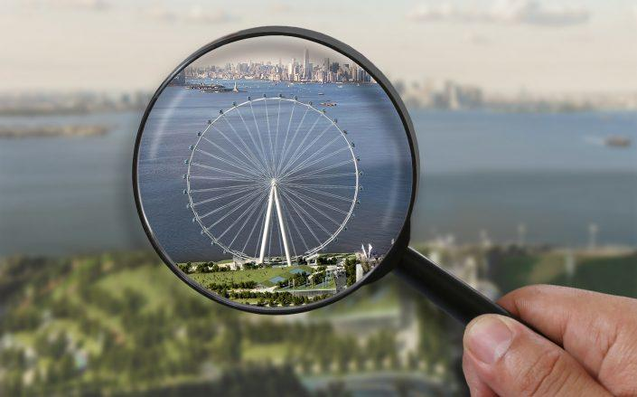 The newest plan for the New York Wheel is 210 feet shorter than the 2018 plans. (Cosentini Associates, Getty)