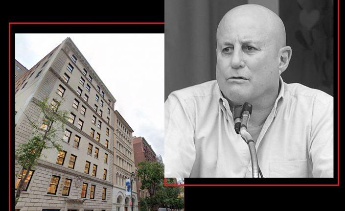 Ron Perelman with 27-33, 35 and 41 East 62nd Street (Getty; Google Maps)