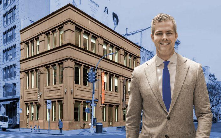 Celebrity broker Ryan Serhant and his firm's future office. (PopShop, Ryan Serhant)