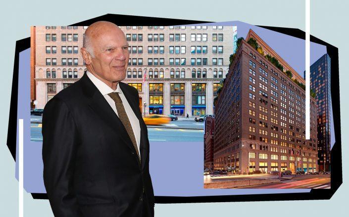 Vornado's Steven Roth and One Park Avenue (Photos via Getty, Vornado)