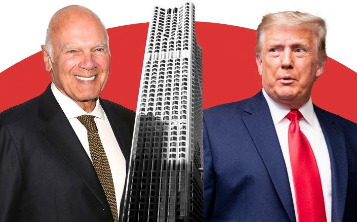 Vornado's Steve Roth, 555 California Street in San Francisco and Donald Trump (Getty, Wikipedia Commons)