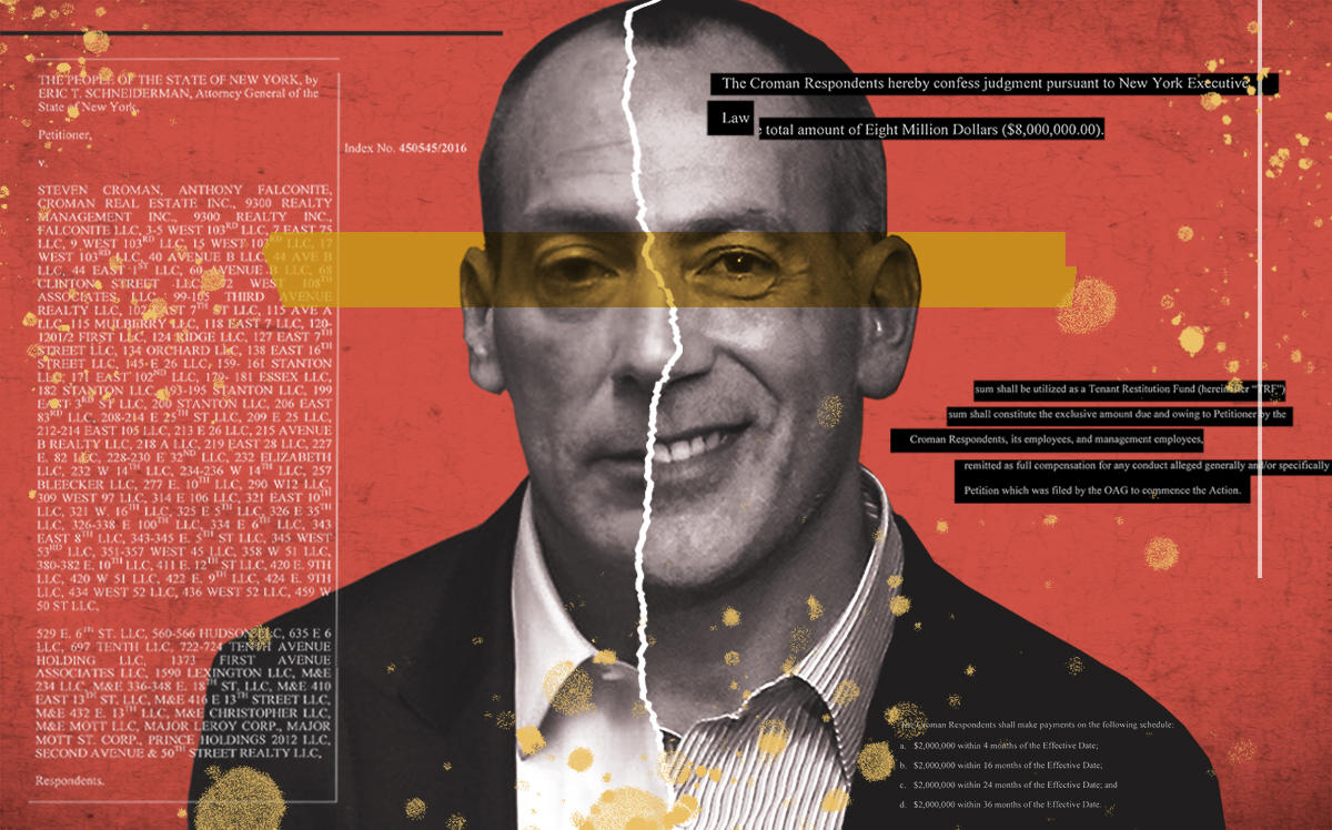 Steven Croman (Getty, Supreme Court of the State of New York/Illustration by Alexis Manrodt for The Real Deal)