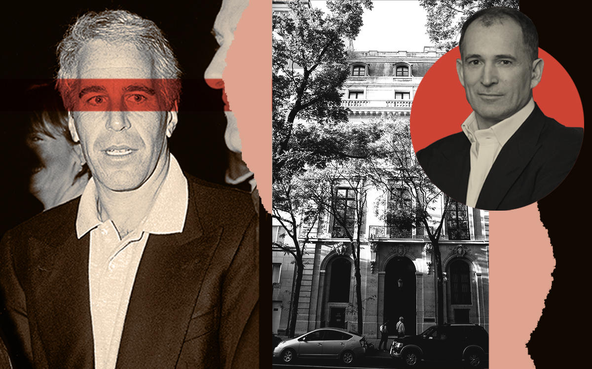 Jeffrey Epstein and Michael Daffey with 9 East 71st Street (Getty)
