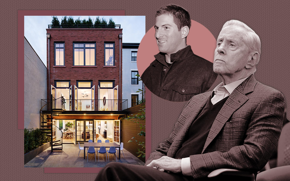 Fred Wilpon and Scott Wilpon (inset) with 334 West 20th Street (Getty, Compass)