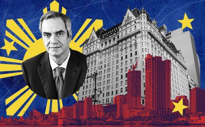 Enrique Razon, Jr. and the Plaza Hotel (Tdorante10/Wikimedia, iStock, ICTSI)