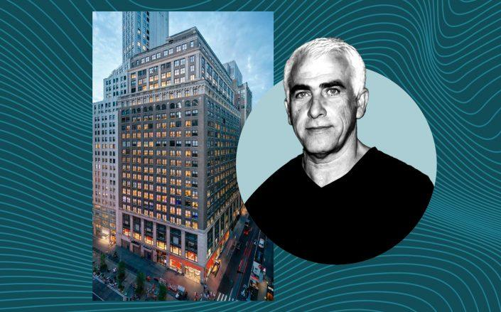 1440 Broadway and CIM Group's Shaul Kuba (Photos via CBRE and Getty)