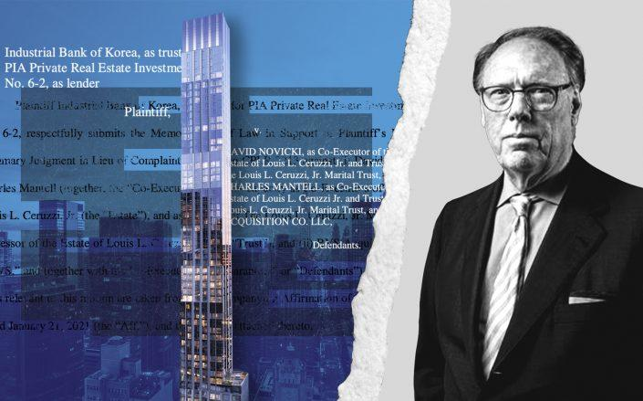 Centrale at 138 East 50th Street and Ceruzzi president Arthur Hooper (The Centrale NYC, Hooper via Sasha Maslov/Illustration by Kevin Rebong for The Real Deal)