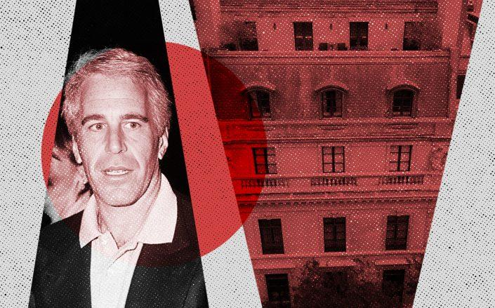 9 East 71st Street and Jeffrey Epstein (Photos via Getty; Wikipedia Commons)