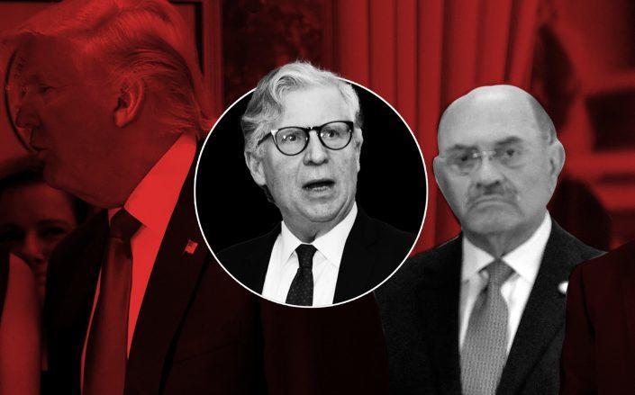 Donald Trump, Cy Vance and Trump Organization CFO Allen Weisselberg (Getty)