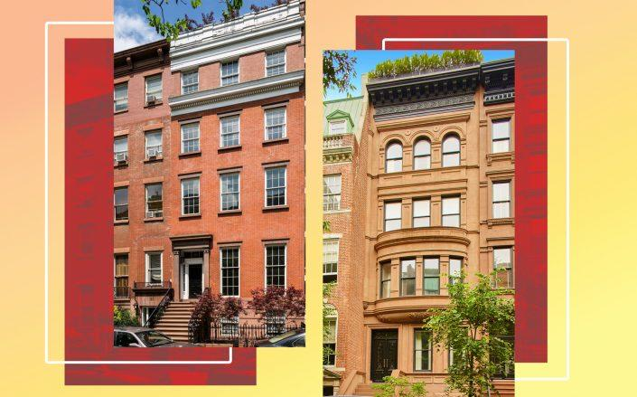 19 West 12th Street (left) and 11 East 93rd Street (Photos via Sotheby's and Compass)