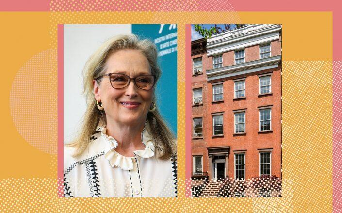 Meryl Streep and 19 West 12th Street (Getty, StreetEasy)