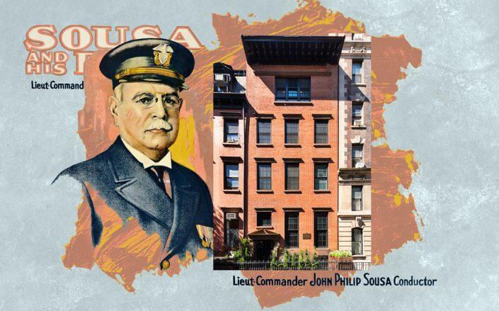 John Philip Sousa and the Sousa House at 80 Washington Place (Getty, Leslie J. Garfield)