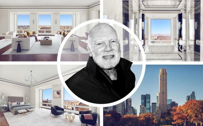 Unit 55B of Central Park South and Steve Roth of Vornado Realty Trust. (Compass, Vornado, Getty)