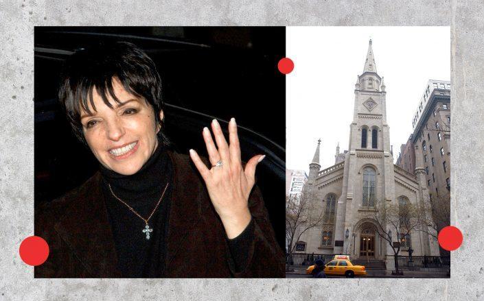 Liza Minelli and the Marble Collegiate Church (Getty)