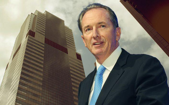 Morgan Stanley's James P. Gorman and their Broadway headquarters. (Getty)
