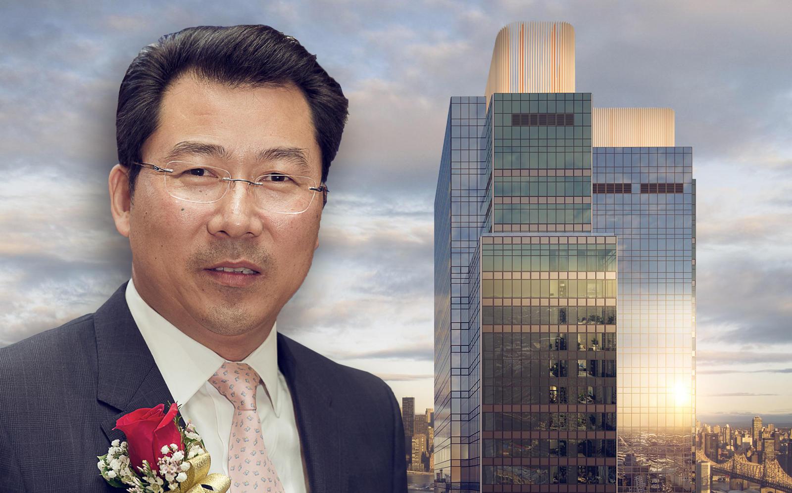 Chris Jiashu Xu and Long Island City's Skyline Tower. (Skyline Tower)