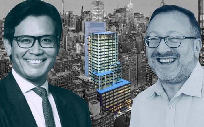 Cove Property Group's Kevin Hoo, Baupost Group's Seth Klarman and Hudson Commons. (Cove, Hudson Commons, Getty)