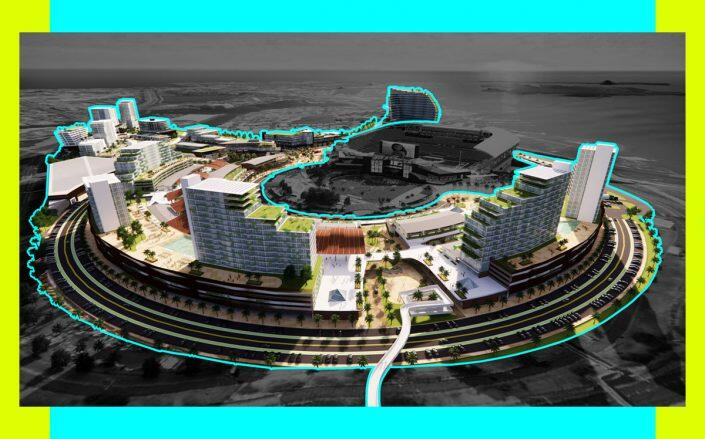 Rendering of the project (New Aloha Stadium Entertainment District)