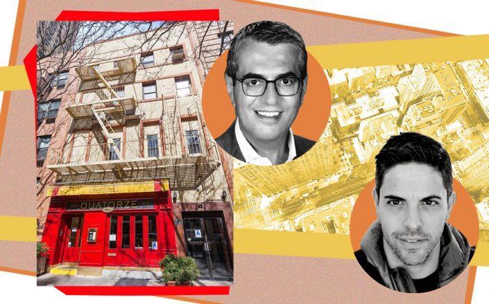 323 East 79th Street with Spruce Capital's Robert Schwartz and Boomerang's Marco Auteri (Google Maps, Elliman)