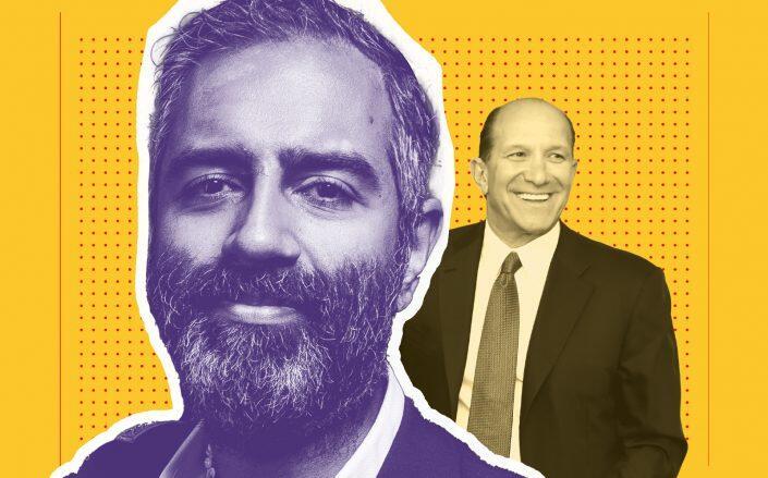 Amol Sarva and Cantor Fitzgerald CEO Howard Lutnick (Sarva via Sasha Maslov, Lutnick via Getty)