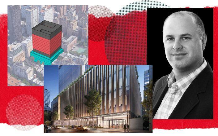 Renderings of 310 East 67th Street and Longfellow Real Estate Partners CEO Adam Sichol (Friends UES, Rendering by DBOX, Longfellow)