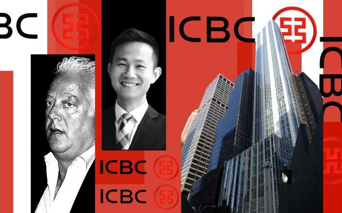 From left: RFR's Aby Rosen, Vanke US managing director Kai-yan Lee and 100 East 53rd Street (Photos via Tdorante10/Wikipedia and Getty)