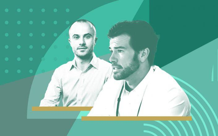 Fifth Wall's Brendan Wallace (right) and Andriy Mykhaylovskyy (Facebook/Fifth Wall; iStock)