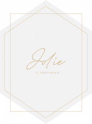 The new logo for Jolie on Greenwich.