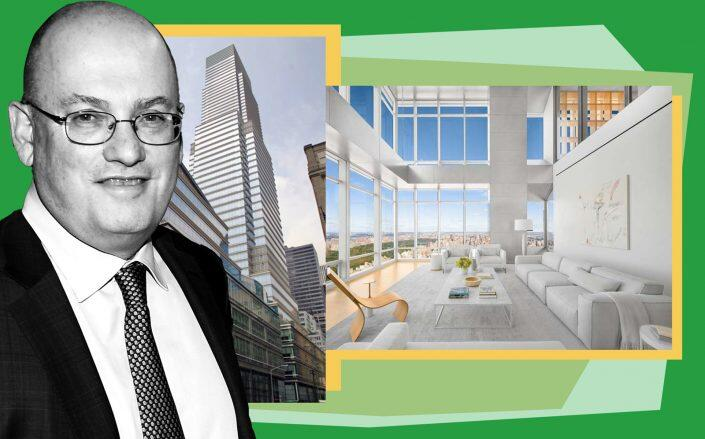 Steve Cohen and One Beacon Court at 151 East 58th Street (Corcoran, Getty)