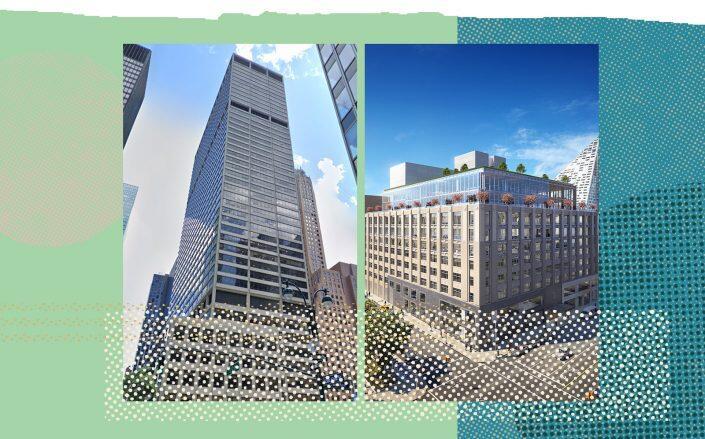 345 Park Avenue and 787 Eleventh Avenue (Photos via Google Maps and Rafael Viñoly)