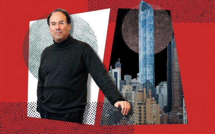 Extell's Gary Barnett and One57 (Getty)