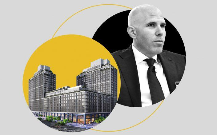 A rendering of 85 Jay Street and RXR Realty CEO Scott Rechler (Winick, Getty)