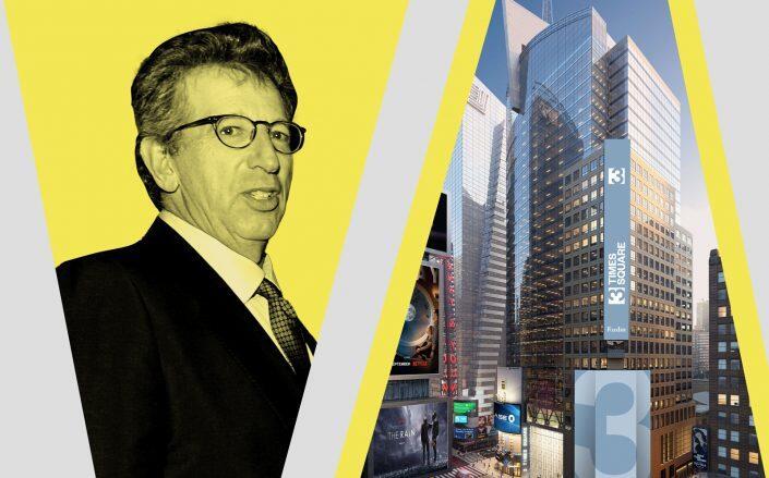 Rudin Management CEO Bill Rudin and 3 Times Square (Getty, FXCollaborative)