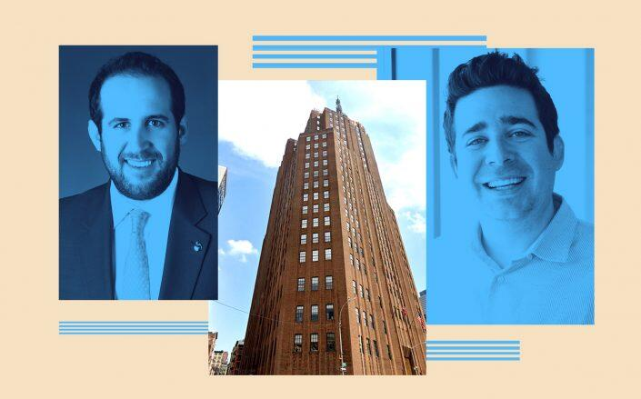 Rudin Management's Michael Rudin and Industrious' Justin Stewart with 32 Sixth Avenue in Tribeca (Rudin, Industrious, Google Maps)