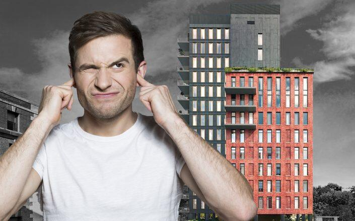 Cobble Hill residents are complaining about a sharp whistling noise coming from a luxury condo at 347 Henry Street. (Douglas Elliman, Getty)
