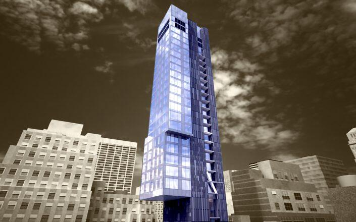 Rendering of H Hotel W39th (Peter Poon Architects)