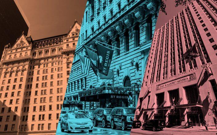 The Plaza Hotel, St. Regis Hotel, and Waldorf Astoria (iStock)