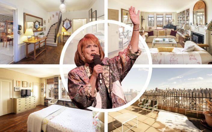 Phyllis Newman and her Central Park duplex. (Brown Harris Stevens, Getty)