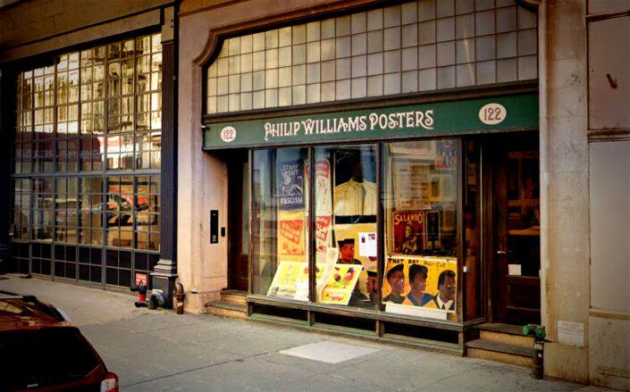 Philip Williams Posters at 122 Chambers Street (Google Maps)